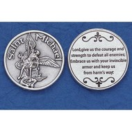 Silver Plated Relief Coin, St. Michael Coin