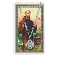 St. Francis of Assisi Medal and Laminated Holy Card