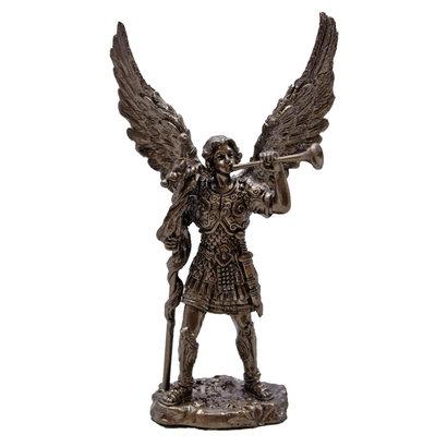 """St. Gabriel Statue, Cold Cast Bronze 4"""""""