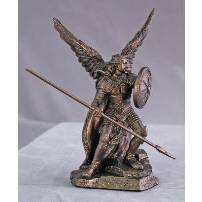 """St. Raphael Statue, Cold Cast Bronze 4"""""""