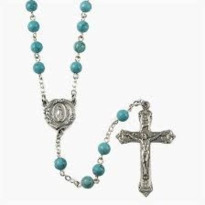 Rosary Turquoise 6MM Bead