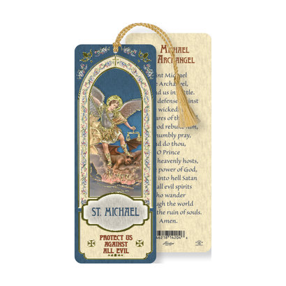 St. Michael, Laminated Bookmark W/T