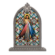 "Divine Mercy, Liturgical Glass 4 1/2x 6 1/2"""