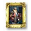"Jesus King of Mercy, 4.5""x3.5"" Gold Frame"