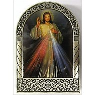 Divine Mercy Metal Easel, 2 5/8 x 1 7/8
