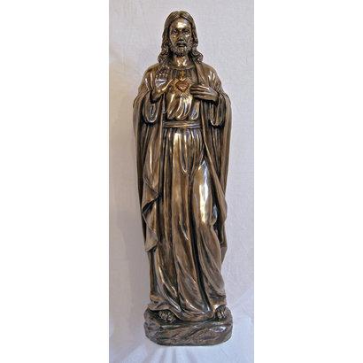 "Sacred Heart of Jesus, Cold Cast Bronze, 40"""