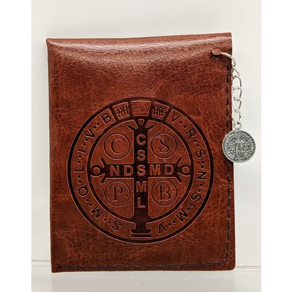 St. Benedict Brown Rosary Case