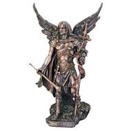 """St. Gabriel, Cold Cast Bronze 14"""" Statue"""