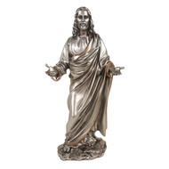 "Welcoming Christ, Pewter Style 12"" Statue"