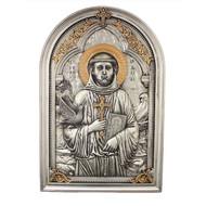 "St. Francis, Veronese Plaque 6x9"""