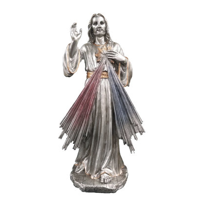 "Divine Mercy, Pewter Style Veronese 12"" Statue"