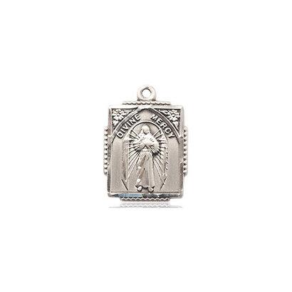 Divine Mercy Medal, 14K GF, 5/8x1/2, NO CHAIN