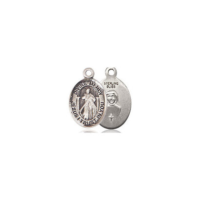 Divine Mercy Medal, 14kt GF, 1/2x1/4