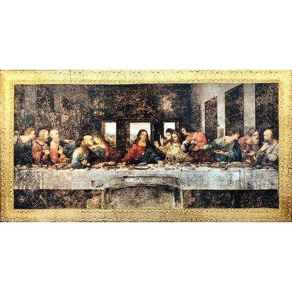 Last Supper, 9 1/4 x 18, Da Vinci