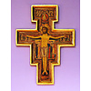 "San Damiano Crucifix, 10"", Raised Borders"