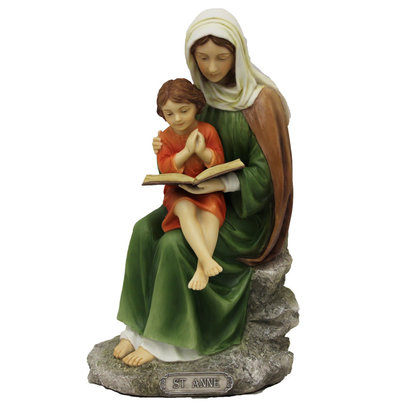 """St. Anne Statue, 8"""", Fully Hand-Painted"""