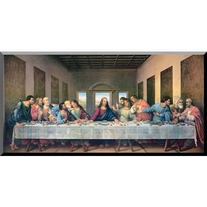 Last Supper Restored Wood Plaque, 16x32