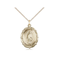 Miraculous Medal, 7/8x5/8, GF