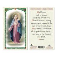 Hail Mary Prayer Holy Card