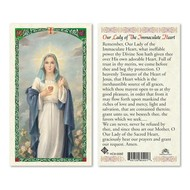 Our Lady of the Immaculate Heart Holy Card