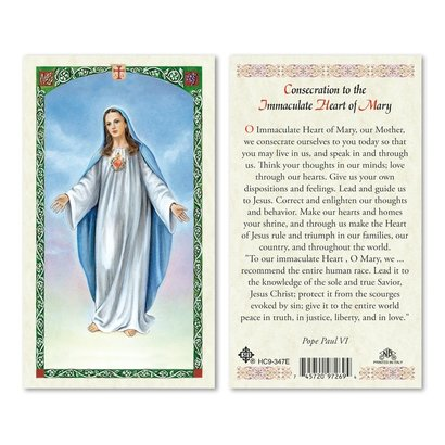 Our Lady of Peace Holy Card