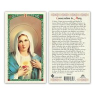 Consecration to Mary Holy Card