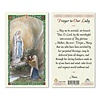 Prayer to Our Lady - Lourdes Holy Card