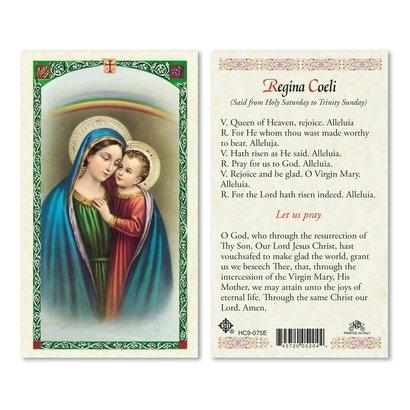 Regina Coeli Holy Card