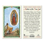Mother of the True God OLG w St. Diego Holy Card