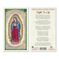 Right to Life OLG Holy Card
