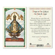 Prayer to O L of San Juan de Lagos Holy Card