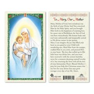 Our Lady of the Snow Holy Card