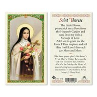 Saint Therese Laminated Holy Card Printed in Italy