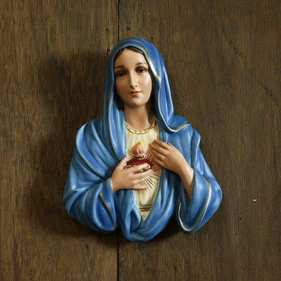 Immaculate Heart of Mary Plaque, 12""