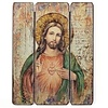 Sacred Heart of Jesus Wood Panel, 15""