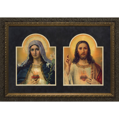 """Sacred and Immaculate Heart, 21.5""""x29.5"""""""