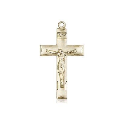 Crucifix, 14kt GF, 1 1/8 x 5/8, NO CHAIN