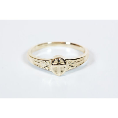 Cross Ring, 14 kt Solid Gold