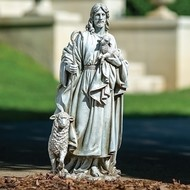 "Jesus the Good Shepherd, 25"", outdoor"