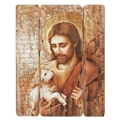 Jesus the Good Shepherd, Wood Panel, 26x20