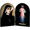 Divine Mercy & Sr. Faustina, Diptych, 4x6