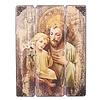 """St. Joseph & Baby Jesus Panel, 17"""""""