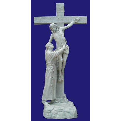 St. Francis embracing Jesus, Indoor, 11ft 2in