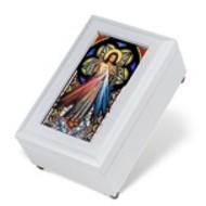 White Divine Mercy Music Box