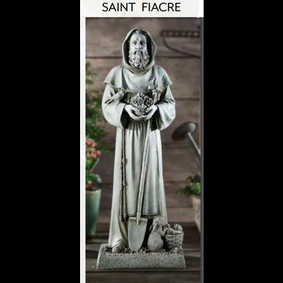 "Saint Fiacre 24"" Outdoor Statue"