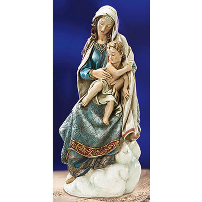 """Seated Madonna and Child Statue, 28 1/2"""" H"""