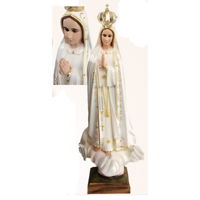 "Our Lady of Fatima 40"" Gold Ornamentation Made in Portugal"