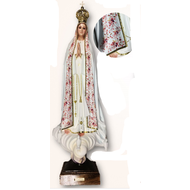"Our Lady of Fatima 30.5"" Pink Ornamentation Made in Portugal"