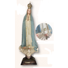 """Our Lady of Fatima 21.5"""" Blue & Gold Textured Finish Made in Portugal"""