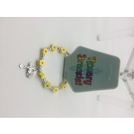Yellow Rosary Braclet